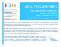bold procurement event
